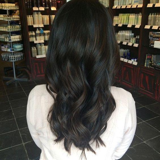couleur de cheveux Noir doux et frais