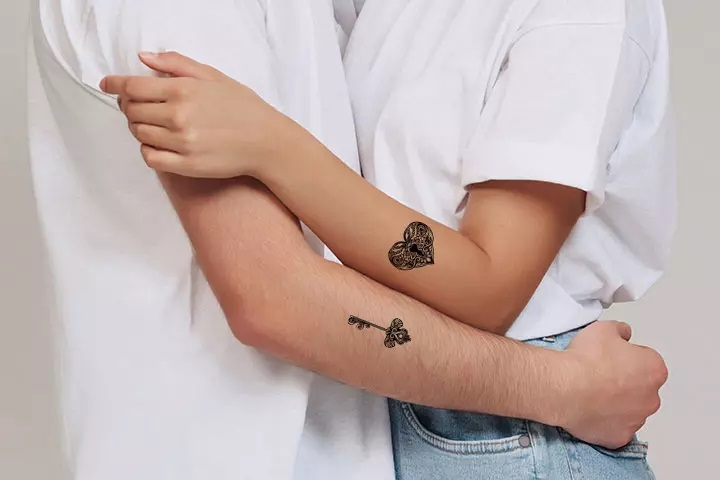 tatouage Clé et cadenas