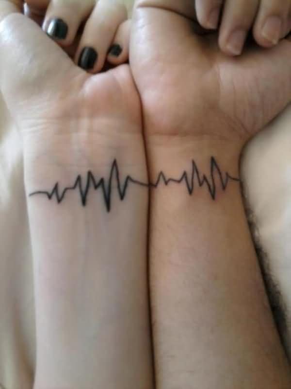 tatouage coeur battements de cœur