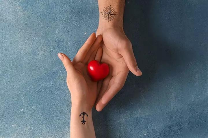 tatouage couple ancre