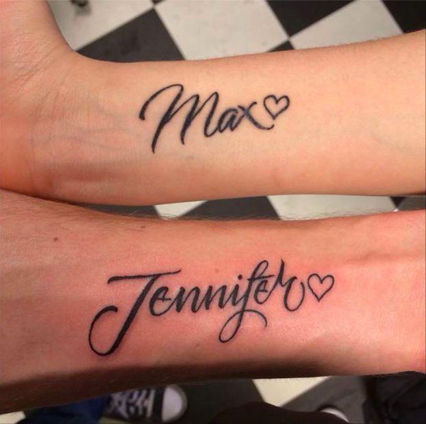 tatouage couple prénoms