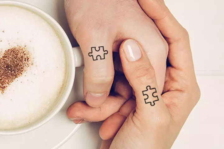 tattoo couple puzzle